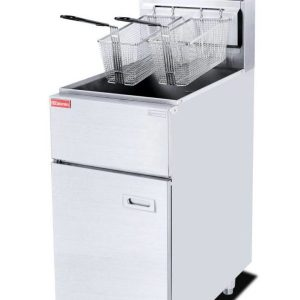 Gas Deep 1-Tank 2-Basket with Cabinet