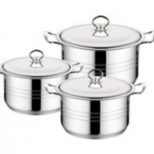 Stainless Steel Large Pots-6 Piece